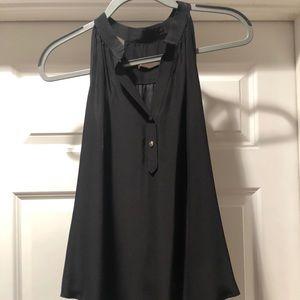 Black Silk Halter like Top